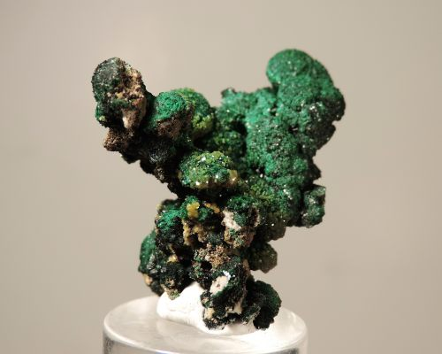 Pyromorphite on Malachite