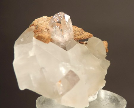 Barite on Calcite (ex M Zinn Coll.)