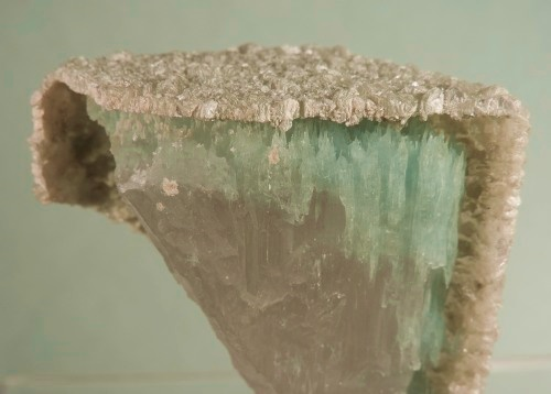 Beryl Var. Bi-colored in a Biotite cast after Beryl. Ex H. Obodda Coll.