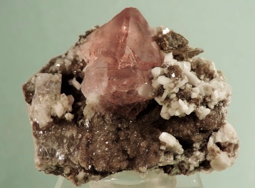 Fluorite with Adularia, Muscovite
