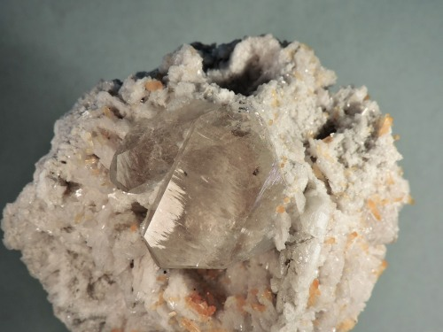 Topaz with Chidrenite, Quartz, on Albite