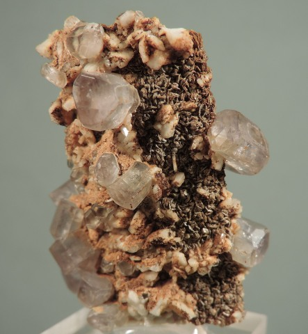 Apatite on Cookeite after Spodumene