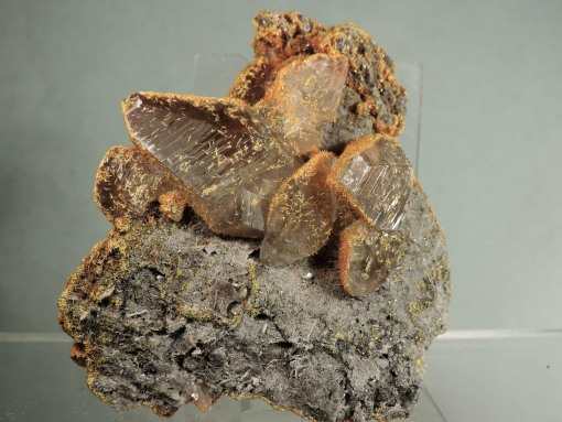 """Orpiment on Calcite """"Floater"""""""