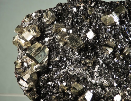 Pyrite on Sphalerite