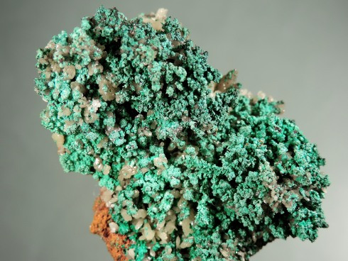 Malachite Coating Copper and Cuprite with Mimetite