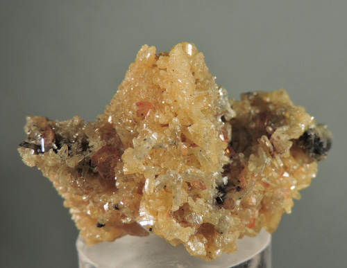 Mimetite after Cerussite with Wulfenite (Ex Chris Amo Coll.)