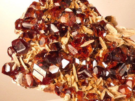 Spessartine with Muscovite