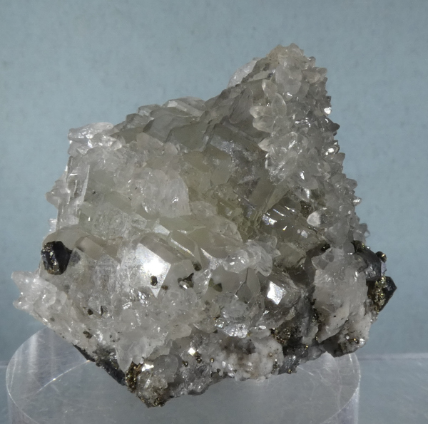 Fluorite with Calcite, Sphalerite (ex S. Koster Coll.)