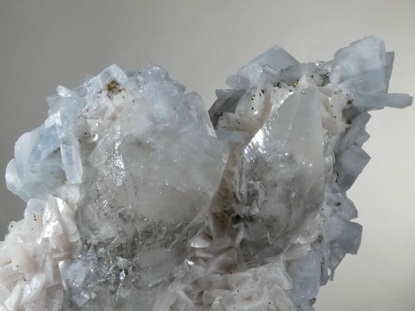 Barite with Pyrite, Calcite