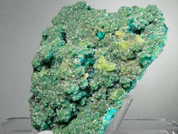 Calcite with Duftite, Dioptase