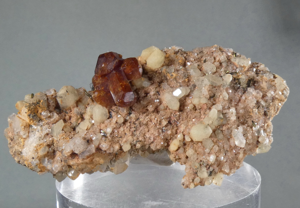 Bastnasite (Ce) with Quartz, Titanite