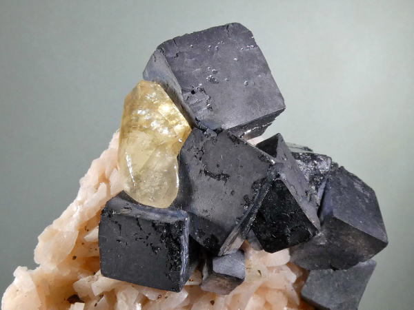 Galena with Calcite on Dolomite