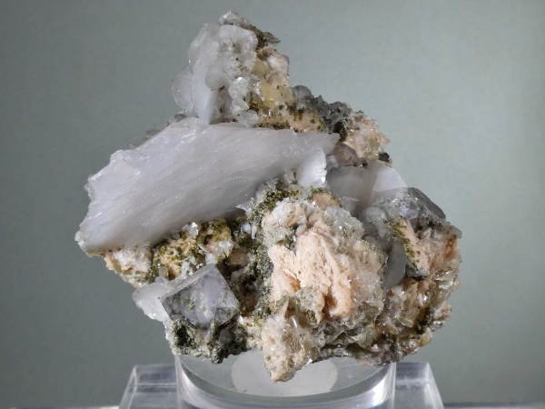 Calcite with Fluorite, Mica, Quartz